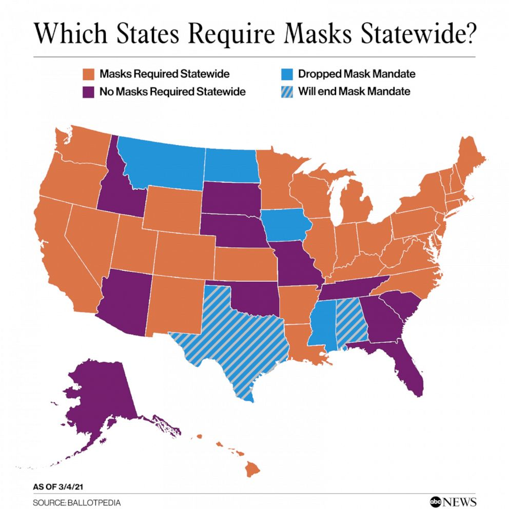 PHOTO: Which States Require Masks Statewide?