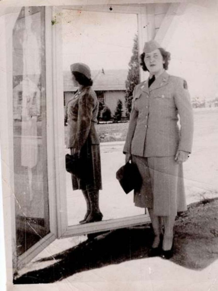 PHOTO: Mary Patterson, who now attends Town Square, is seen in an undated photo wearing her Army uniform while stationed in Japan.