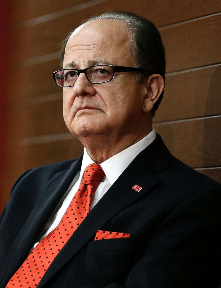 PHOTO: Southern California president C. L. Max Nikias attends a news conference, Dec. 3, 2013, in Los Angeles.