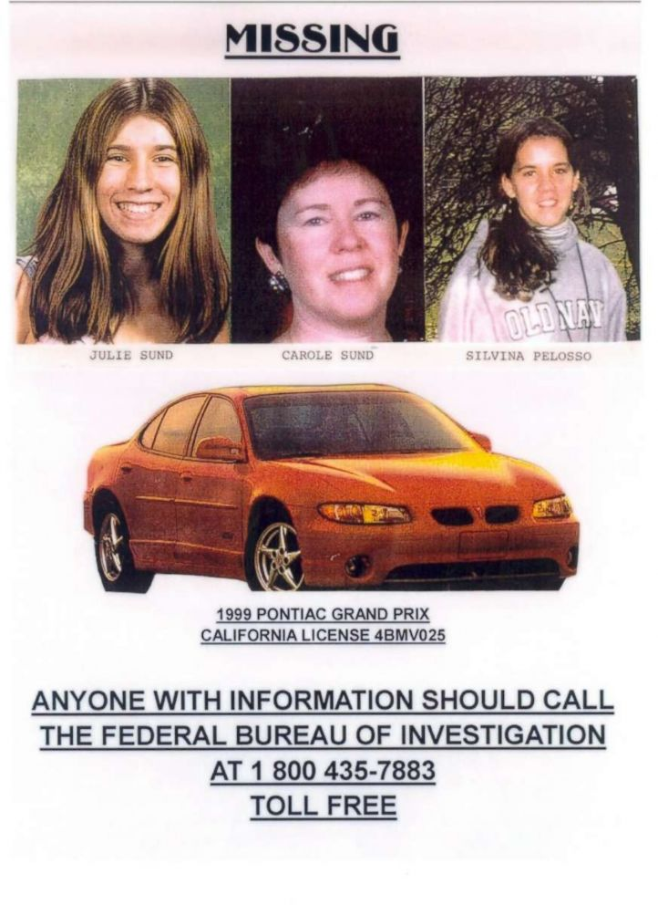 PHOTO: Carole Sund, her daughter Juli Sund and friend Silvina Pelosso were missing for a month before their bodies were found.