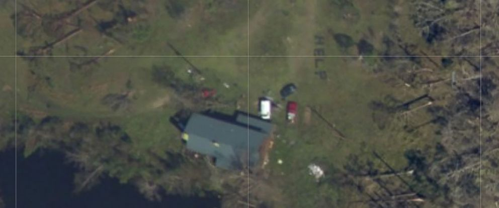 PHOTO: Amber Gee of Callaway, Florida, found her grandmother and other relatives in the aftermath of Hurricane Michael by using the NOAA interactive satellite map.