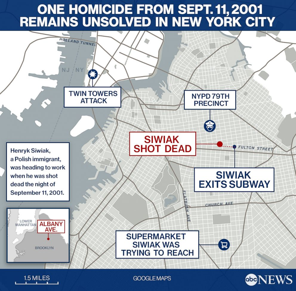 PHOTO: One homicide from Sept. 11, 2001 remains unsolved in New York City.