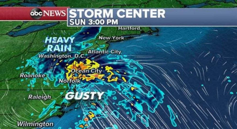 PHOTO: Nestor is now just a classic low pressure system as it moves through the Southeast and towards the mid-Atlantic.