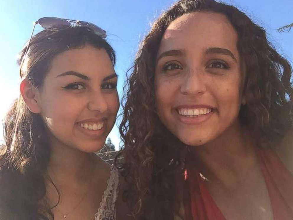 PHOTO: College roommates Nissma Bencheikh (left) and Roaya Jannatipour (right) found out that their mothers were best friends and that they knew each other as babies.