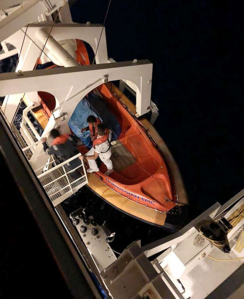 Woman Rescued After Falling Overboard From Cruise Ship In Bahamas - Cruise ship rescue