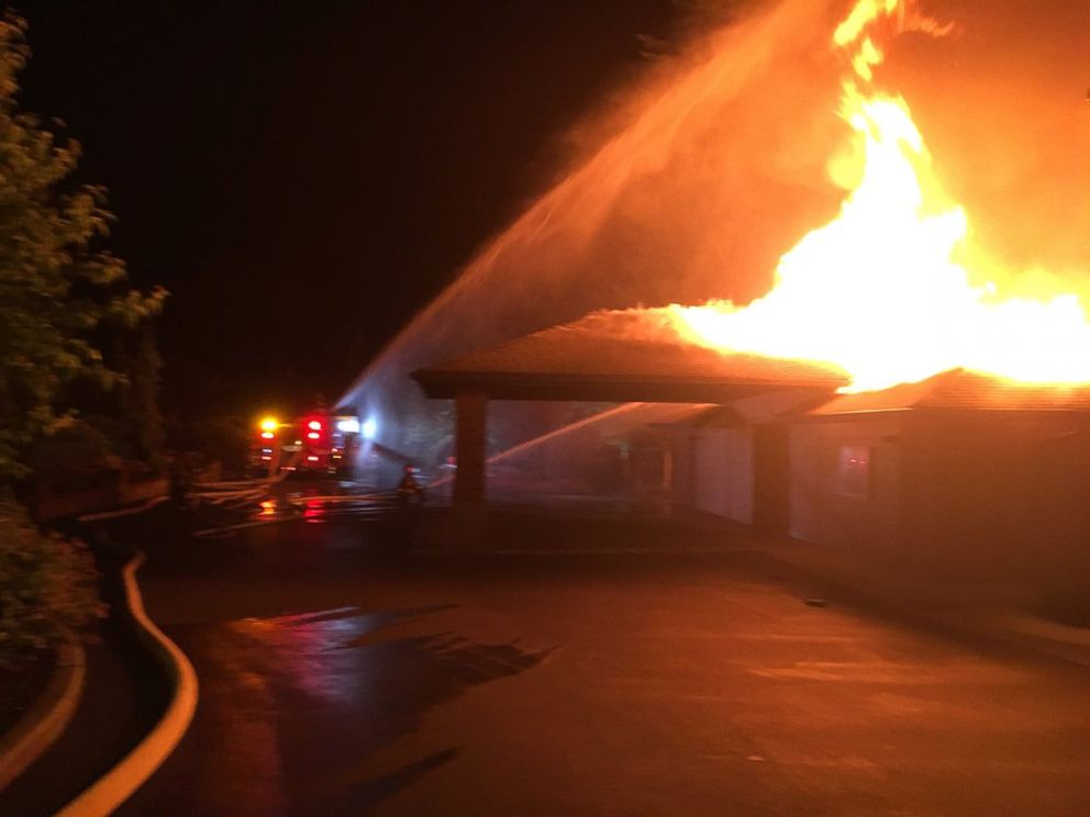 PHOTO: An arson completely destroyed the Kingdom Hall of Jehovahs Witnesses in Olympia, Washington, July 3, 2018.