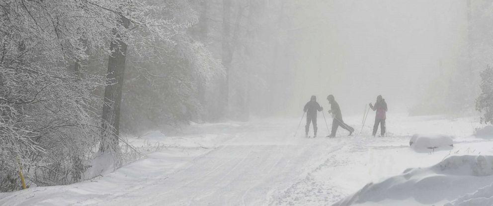 PHOTO: People cross-country ski at Laurel Ridge State Park in near Jennerstown, Pa., Jan. 21, 2019.