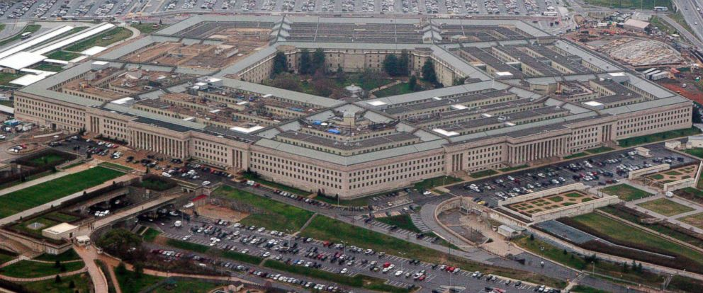PHOTO: An aerial view of the Pentagon, outside Washington, DC, March 2008.