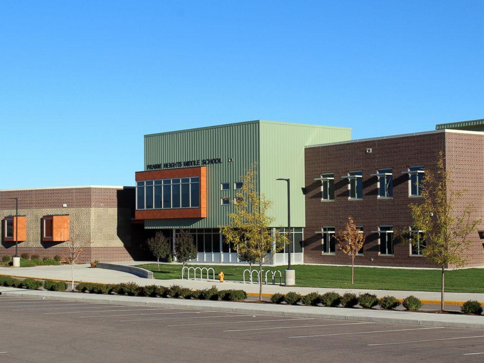 PHOTO: Prairie Heights Middle School in Evans, Colorado is seen here.