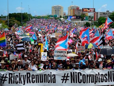 We need him out Protesters demand Puerto Rico governors resignation