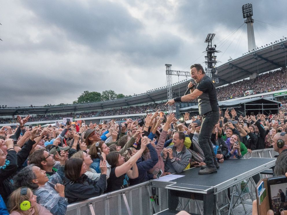 PHOTO: Bruce Springsteen and The E Street Band are seen here in concert at Ullevi Stadium, Gothenburg, Sweden, June 27, 2016.