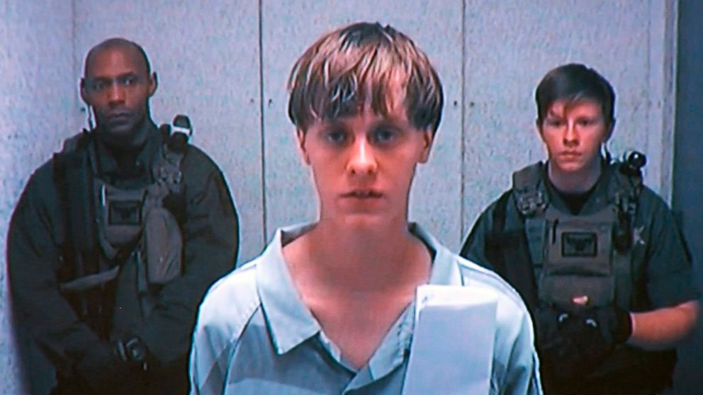 Dylann Roof appears at his bond hearing in Charleston, South Carolina, June 19, 2015, in a still image from video.