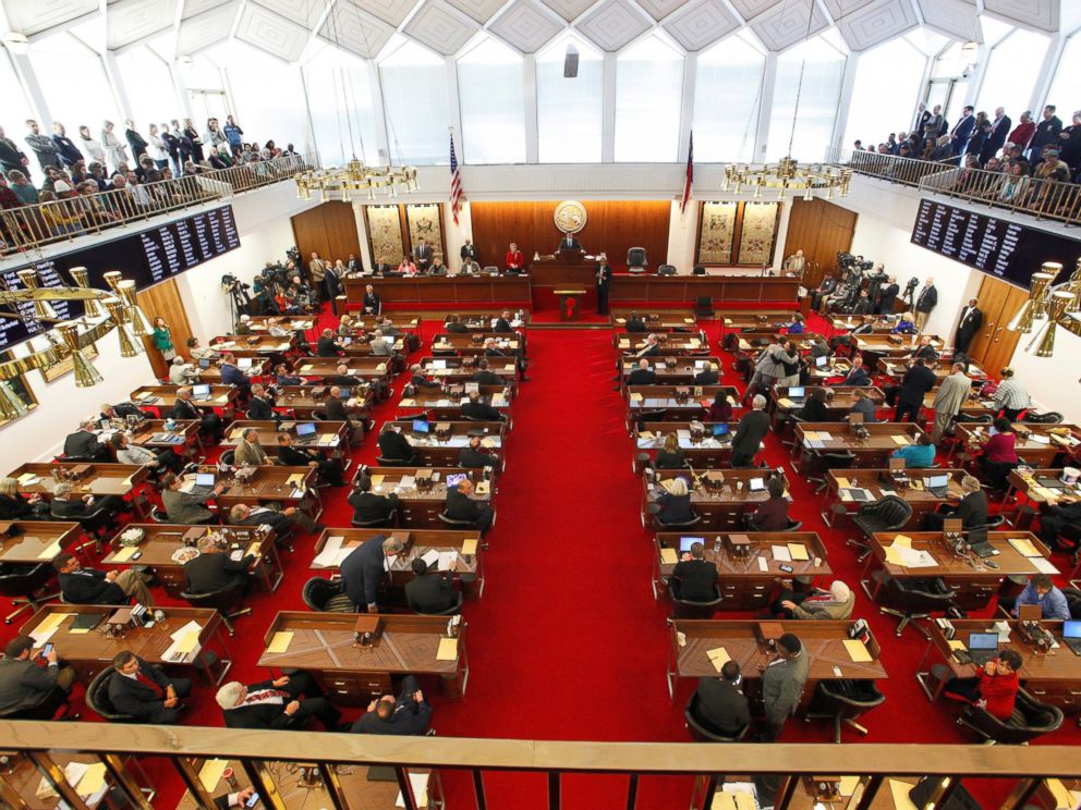 PHOTO: North Carolinas House of Representatives convenes as the legislature considers repealing the controversial HB2 law limiting bathroom access for transgender people in Raleigh, North Carolina, Dec. 21, 2016.