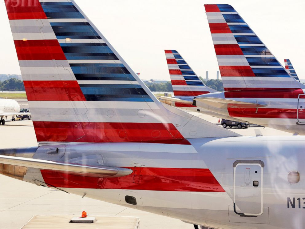 PHOTO: American Airlines aircraft are parked at Ronald Reagan Washington National Airport in Washington, D.C.