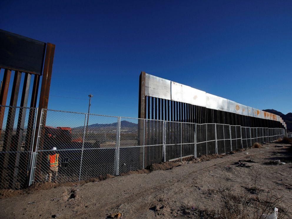 PHOTO: A worker stands next to a newly built section of the U.S.-Mexico border fence at Sunland Park, U.S. opposite the Mexican border city of Ciudad Juarez, Mexico January 25, 2017. Picture taken from the Mexico side of the U.S.-Mexico border.