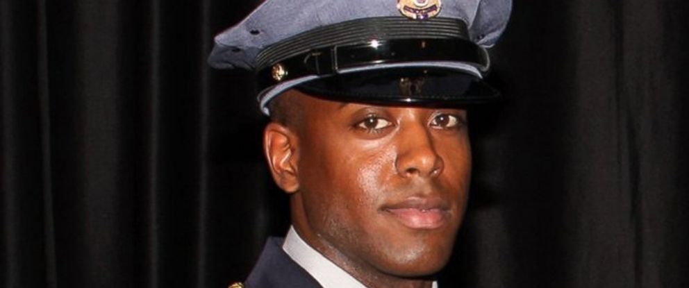 PHOTO: Jacai Colson, 28, a four-year veteran of the Prince George County police force, pictured in this police handout, was killed when a gunman opened fire at their District 3 police station, in Landover, Maryland, March 13, 2016.