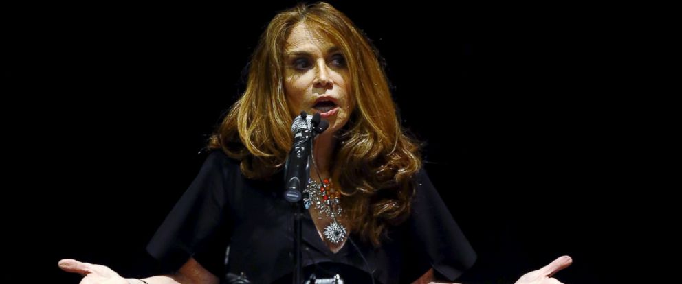 PHOTO: Political blogger Pamela Geller, American Freedom Defense Initiatives Houston-based founder, speaks at the Muhammad Art Exhibit and Contest in Garland, Texas, May 3, 2015.
