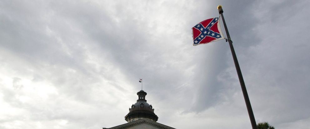 PHOTO: A Confederate flag flies outside the South Carolina State House in Columbia, S.C., Jan. 17, 2012.