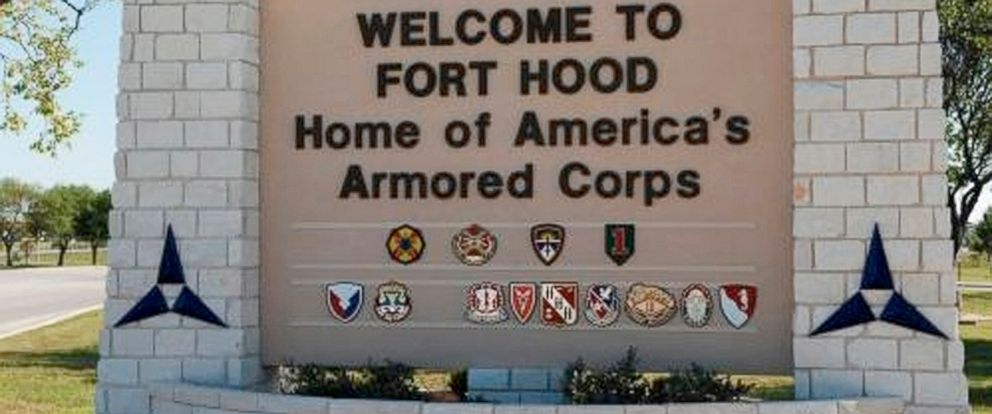 PHOTO: The main gate at the U.S. Army post at Fort Hood, Texas is pictured in this undated photograph, obtained on November 5, 2009.
