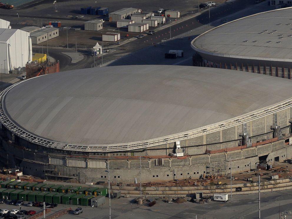 PHOTO:An aerial view of the Rio 2016 Olympic Velodrome venue in Rio de Janeiro, April 25, 2016.