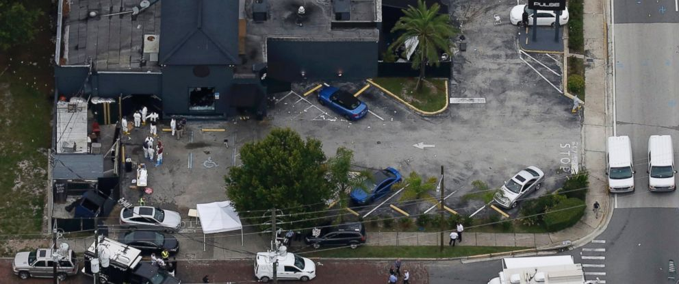 PHOTO: An aerial view shows the Pulse gay night club after a mass shooting in Orlando, Fla., June 12, 2016.