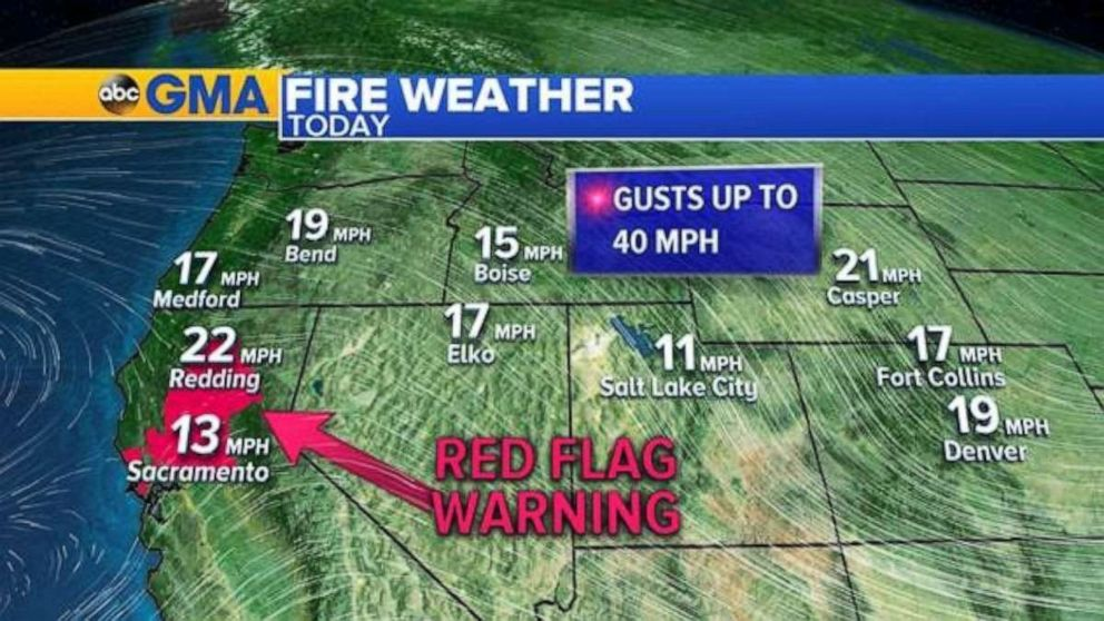 PHOTO: 22 large uncontained wildfires are burning in the western U.S. from California to Montana.