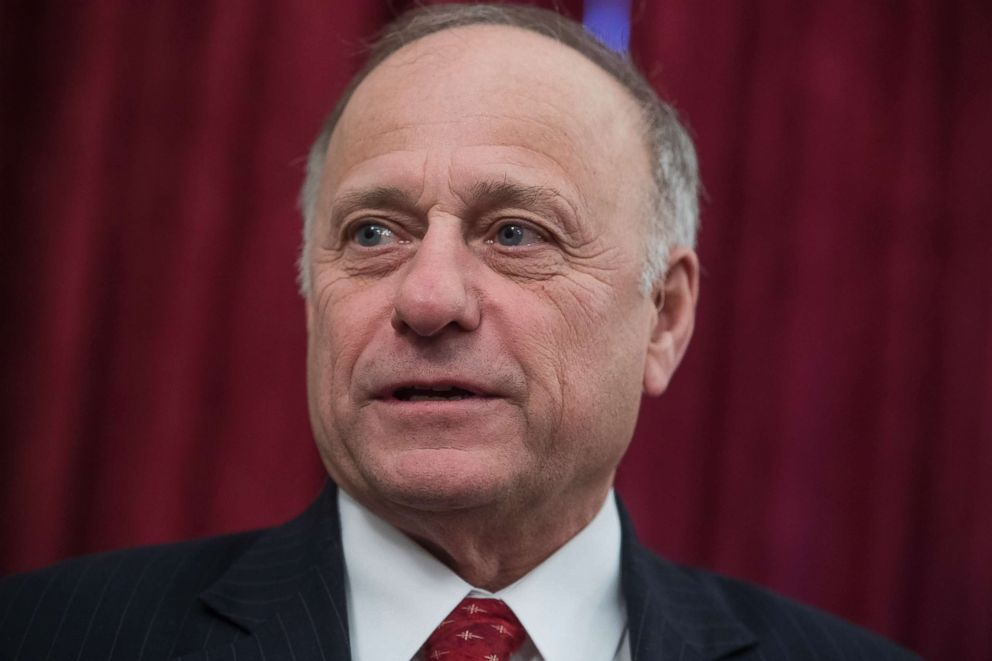 PHOTO: Rep. Steve King, R-Iowa, attends a rally for Iowans in Russell Building prior to the anti-abortion March for Life on the Mall on Jan. 19, 2018.