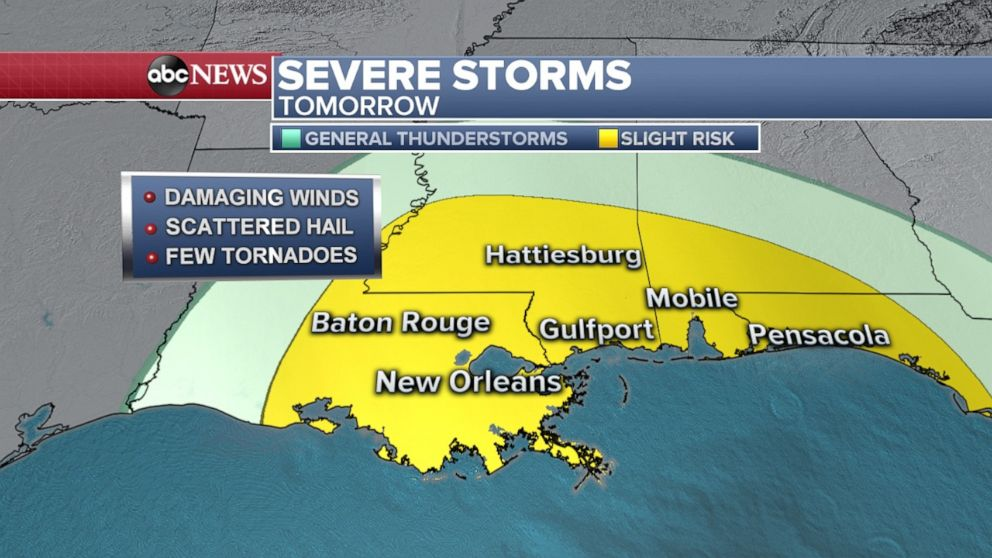 PHOTO: Thursday severe outlook