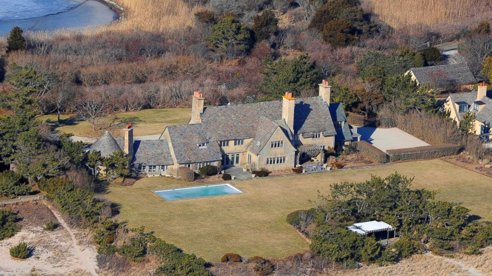 An undated file photo of the house is seen before the massive fire destroyed a house in East Hampton, N.Y. The ten bedroom waterfront mansion was totally destroyed in the blaze.
