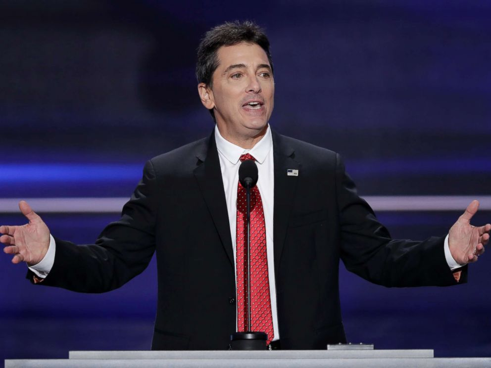 PHOTO: Scott Baio speaks during the opening day of the Republican National Convention in Cleveland, July 18, 2018.