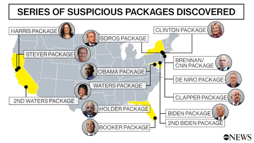 PHOTO: Series of Suspicious Packages Discovered
