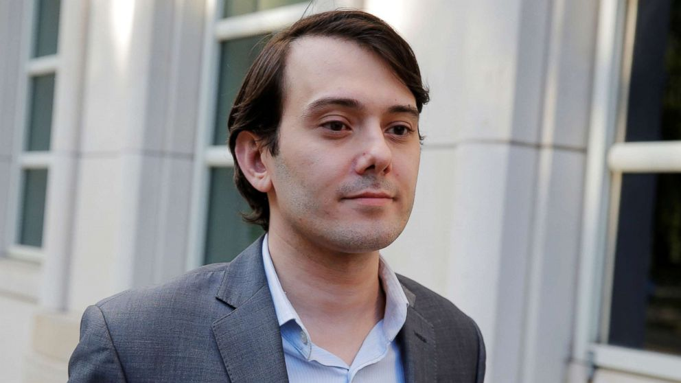 Martin Shkreli, former chief executive officer of Turing Pharmaceuticals and KaloBios Pharmaceuticals Inc, departs after a hearing at U.S. Federal Court in Brooklyn, New York,  June 26, 2017.