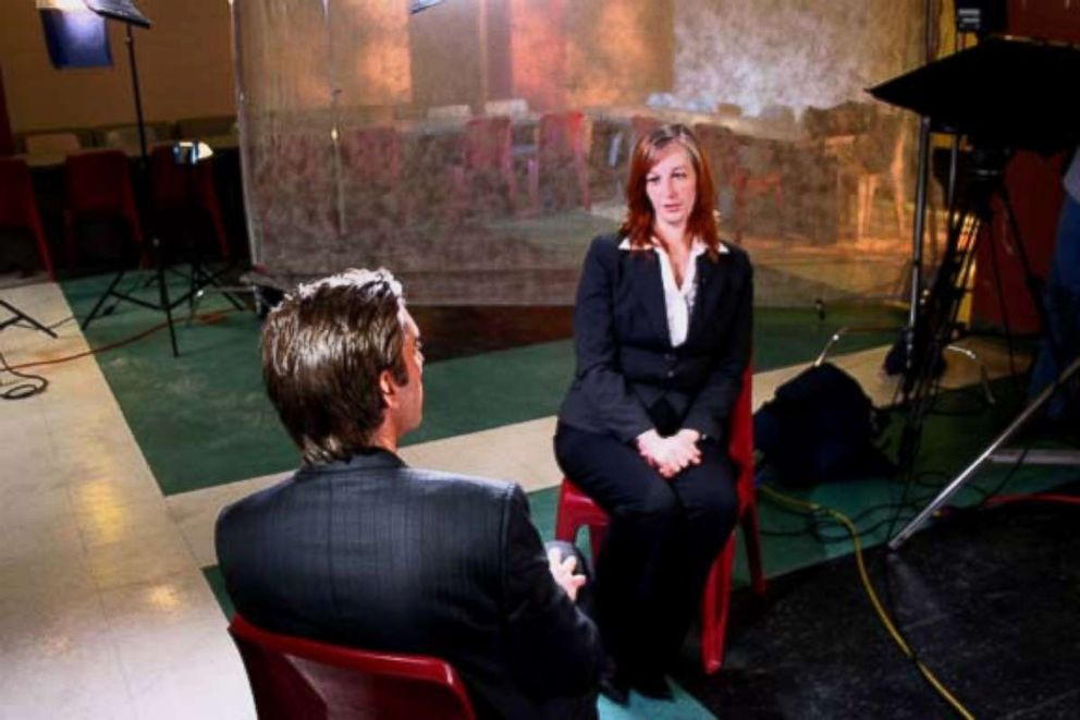 PHOTO: Stacey Castor spoke with David Muir after her conviction in 2009.