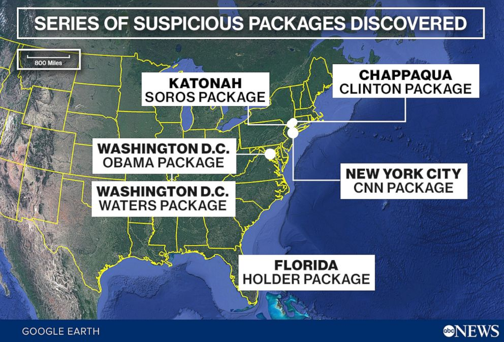 Series of Suspicious Packages Discovered