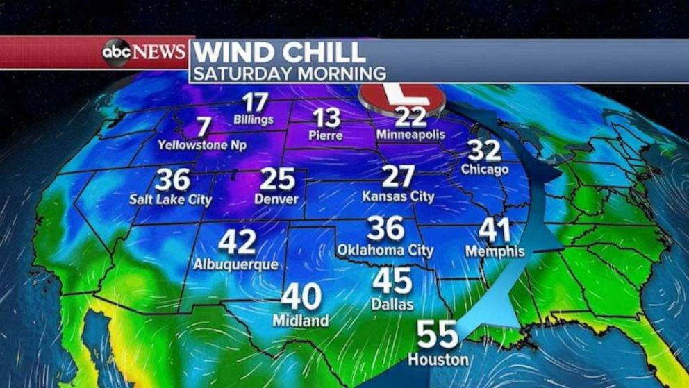 PHOTO: The coldest air of the season will arrive into the Midwest and the South this weekend.