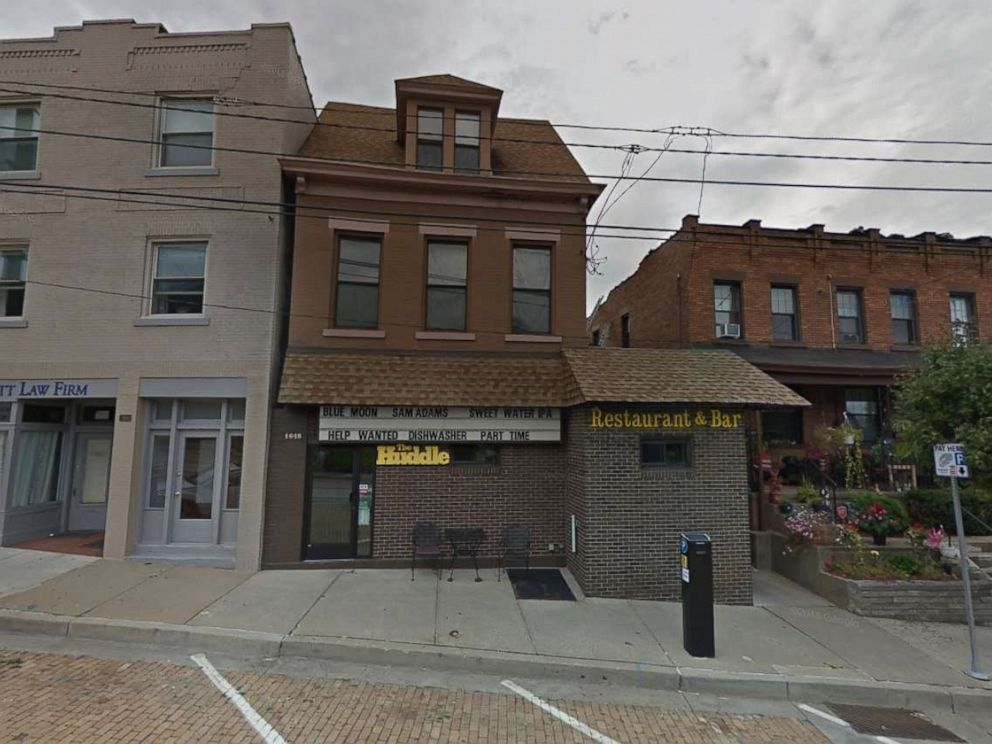 PHOTO: A Google Street View image shows an undated picture of The Huddle, the restaurant and bar in Pittsburghs Beechview neighborhood where the incident took place.