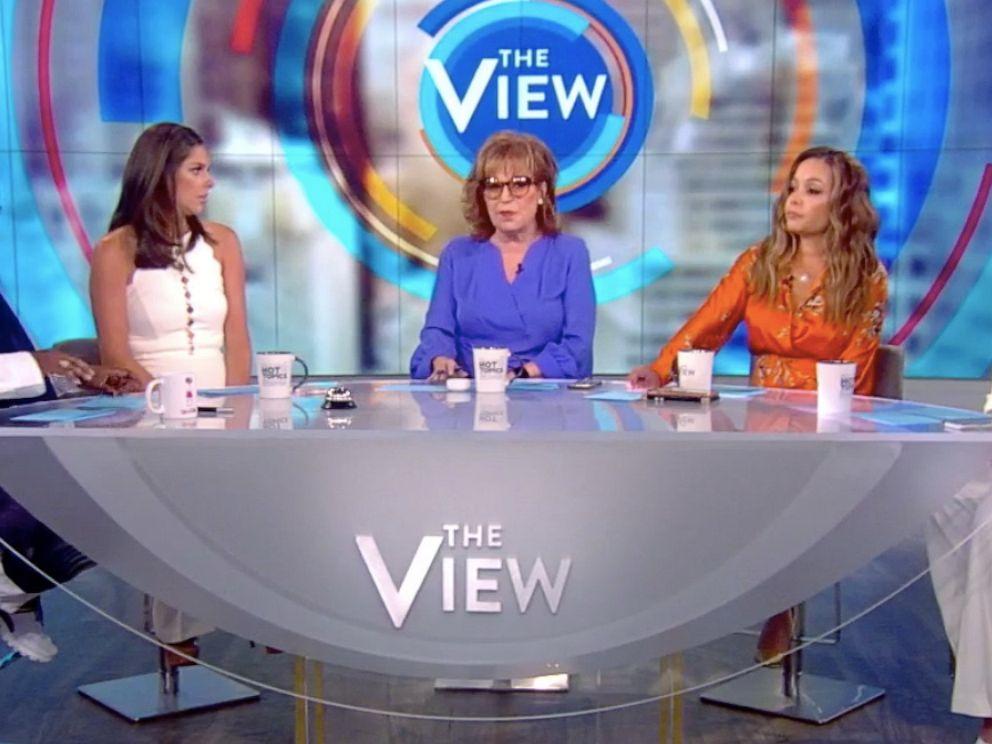 PHOTO: The View co-hosts Whooi Goldberg, Abby Huntsman, Joy Behar, Sunny Hostin, and Meghan McCain discuss gun control on the season 23 premiere Tuesday, Sept. 3, 2019.