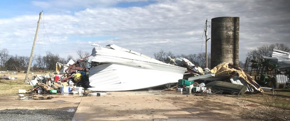 PHOTO: Damage after four tornadoes struck down on March 9, 2019