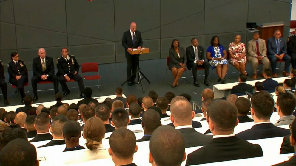 Swearing-in ceremony for new NYPD officers, July 6, 2017, in New York City.