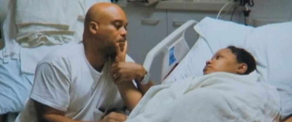 PHOTO: Raleigh Hall, left, and Tunicia Hall, right, are pictured in the hospital.