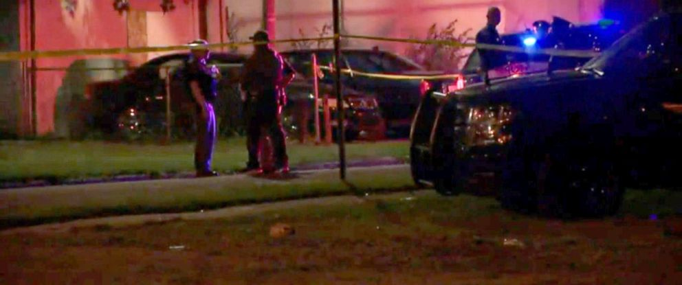 PHOTO: Authorities said that a 28-year-old man was shot and killed by police, after he opened fire on an officer in Benton Harbor, Michigan. Officers at the scene.