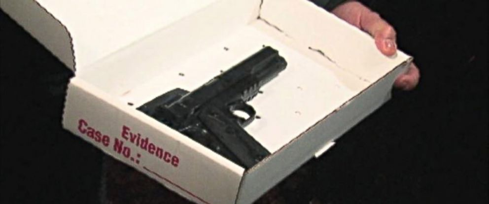 "PHOTO: A photo of the ""airsoft"" type gun carried by the 12-year-old boy shot by Cleveland Police"
