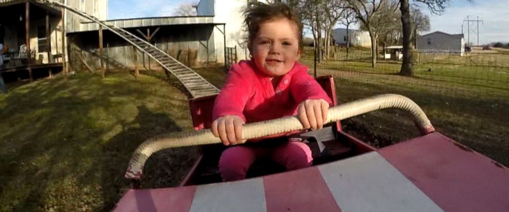 PHOTO: Jimmy White built his granddaughter, Sophia, a roller coaster in his backyard.