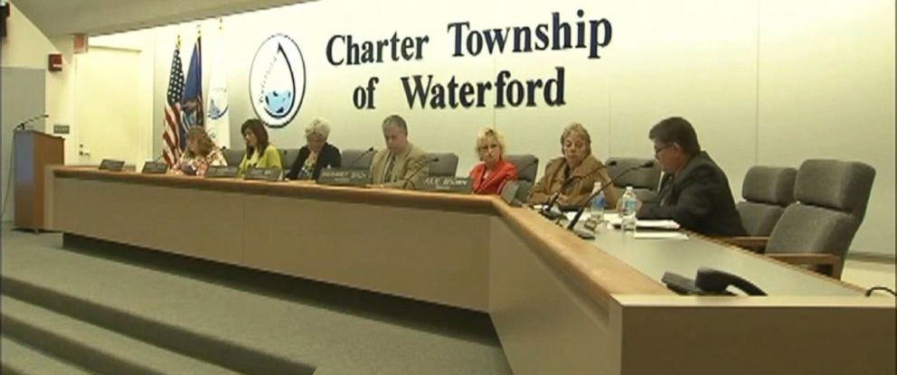 PHOTO: Members of the Board of Trustees for Waterford Township, Michigan at their meeting held October 24, in which they passed a resolution to reject the resettlement of Syrian refugees.