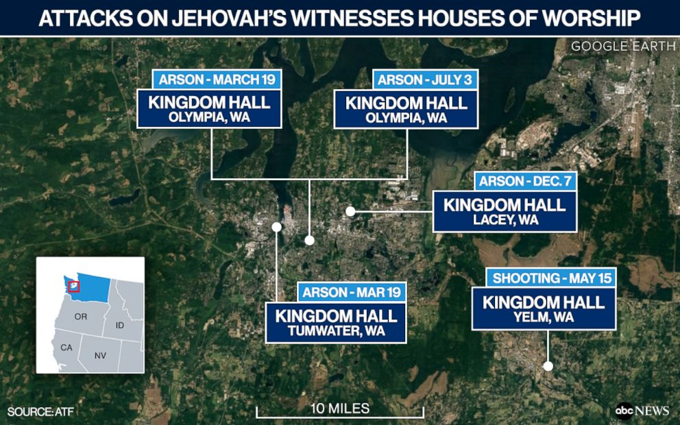 PHOTO: Attacks on Jehovah's Witnesses Houses of Worship