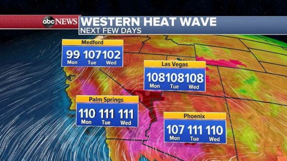 PHOTO: Numerous heat and fire alerts have been issued as a new heat wave is expected to blanket the region.