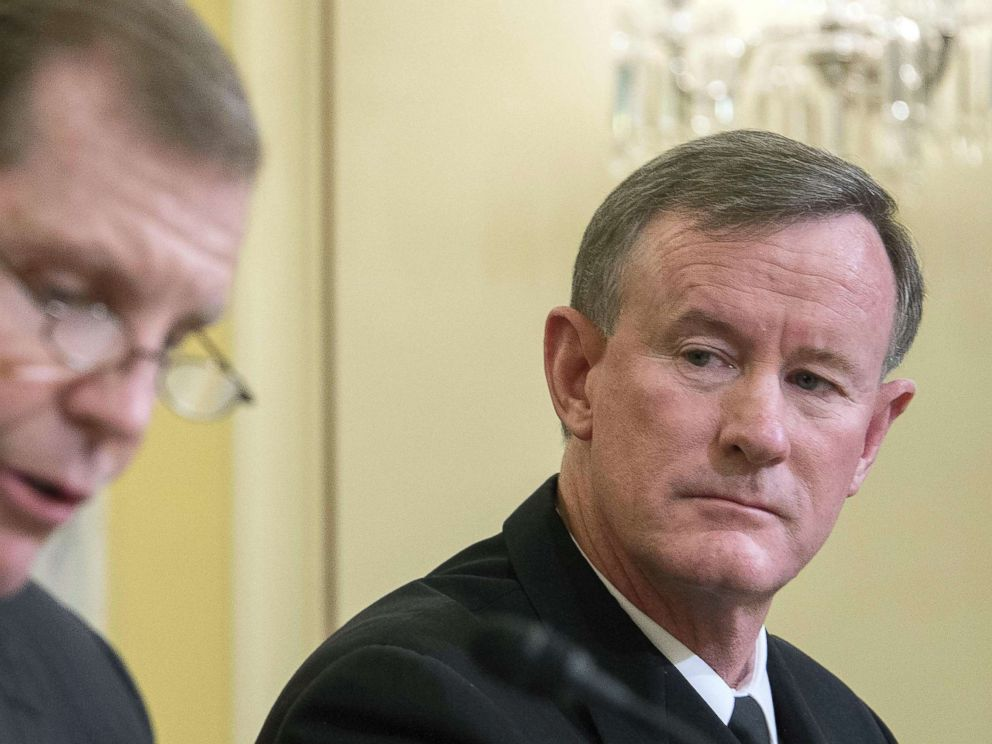 PHOTO: Commander of U.S. Special Operations Command, Admiral William H. McRaven, right, testifies before the Senate Armed Services subcommittee in Washington, D.C., March 11, 2014.