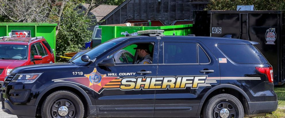 FILE - In this Sept. 19, 2019 file photo, Will County Sheriffs patrol is stationed outside the home of deceased Dr. Ulrich Klopfer in Unincorporated Crete, Ill. Indianas attorney general will hold a news conference Thursday, Oct. 3, 2019 on his off
