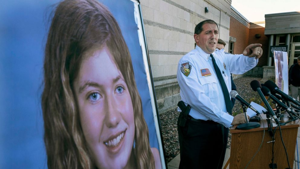 FILE - In this Oct. 17, 2018, file photo, Barron County Sheriff Chris Fitzgerald speaks during a news conference about 13-year-old Jayme Closs who has been missing since her parents were found dead in their home in Barron, Wis. The northwest Wisconsin girl who went missing in October after her parents were killed has been found alive, authorities said Thursday, Jan. 10, 2019. (Jerry Holt/Star Tribune via AP, File)