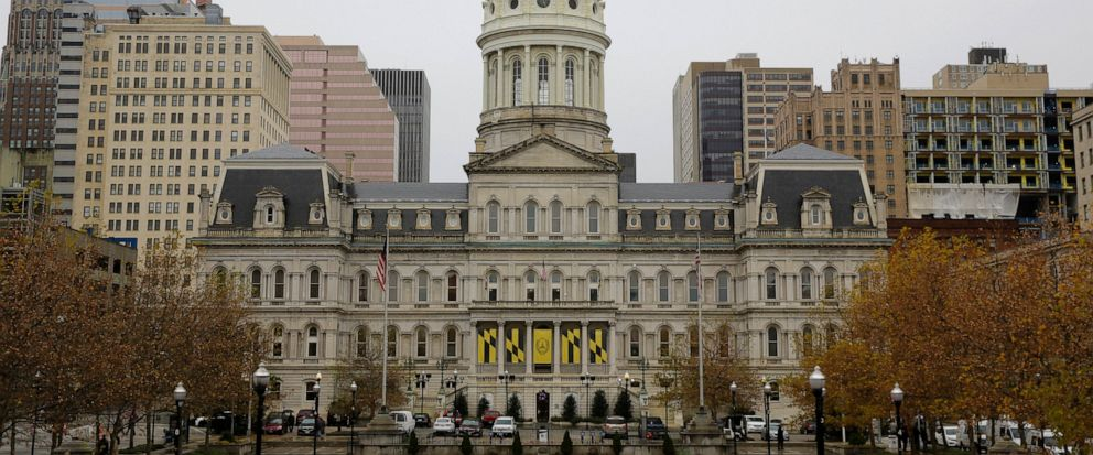 This Dec. 6, 2016, photo shows the City Hall building from the steps of the War Memorial Building in Baltimore. More than a week after a cyberattack hobbled Baltimores computer network, city officials said Wednesday, May 15, 2019, they cant predict